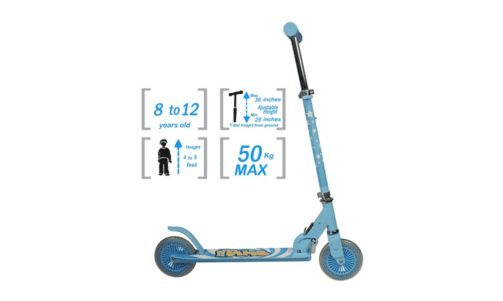 child scooter size