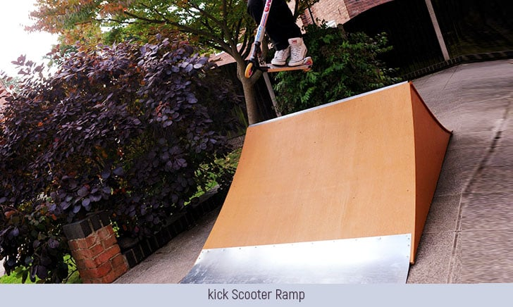 build a kick scooter ramp