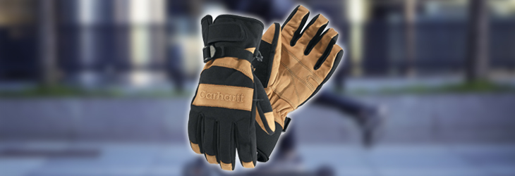 CHARHARTT MEN'S w.p. WATERPROOF INSULATED WORK GLOVE