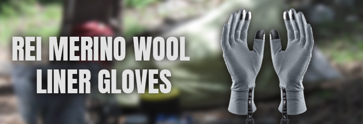REI MERINO WOOL LINER GLOVES