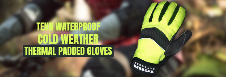 TENN WATERPROOF COLD WEATHER THERMAL PADDED GLOVES (Cycling Gloves)