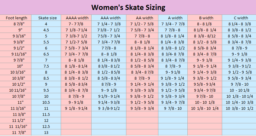 Womens skate size scooterlay