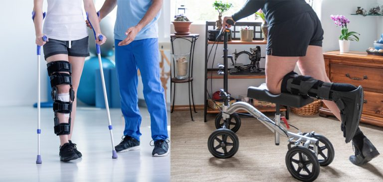 knee scooters vs crutches