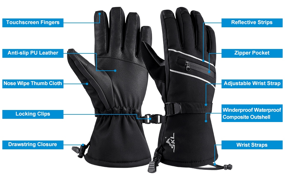 how to choose snowboard gloves: Extra Features
