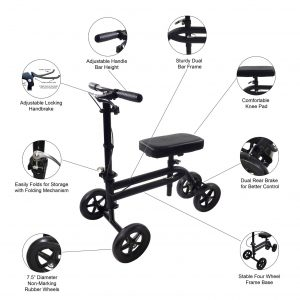 using a knee scooter
