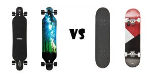 difference between longboard and skateboard