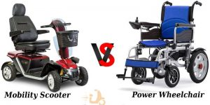 Different between wheelchair vs mobility scooter