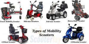 Different types of mobility scooter
