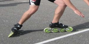 Inline Skate Without the brakes
