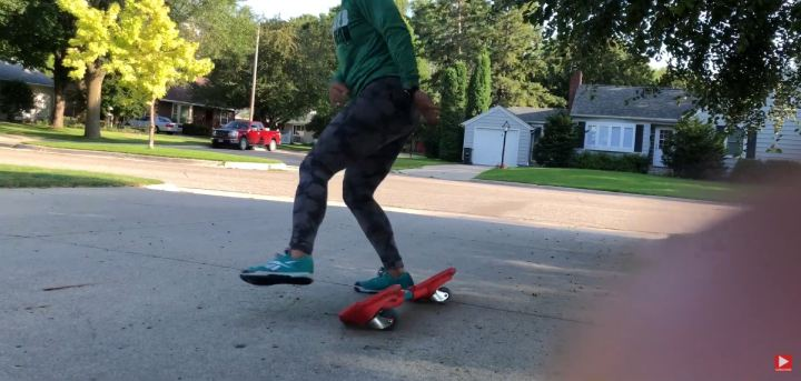 Step off the RipStick when you want to stop