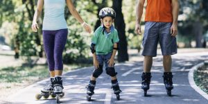 learning to inline skate